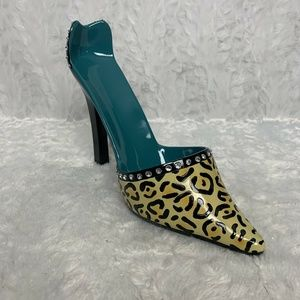 Wine Bottle Holder High Heeled Ceramic Leopard Pri
